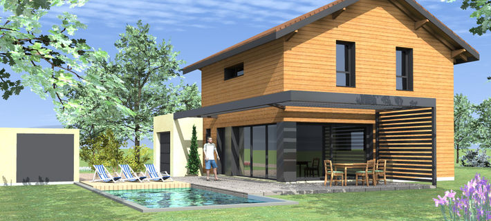 Archicube flament berthoin architectes r alisations maison neuve rt 201 - Estimation cout maison neuve ...